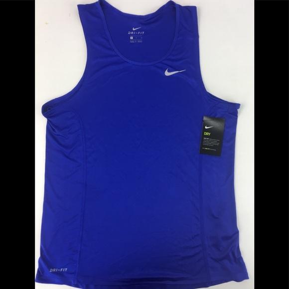 3cec9e42357bca MENS NIKE DRI-FIT MILER RUNNING TANK TOP Shirt Med
